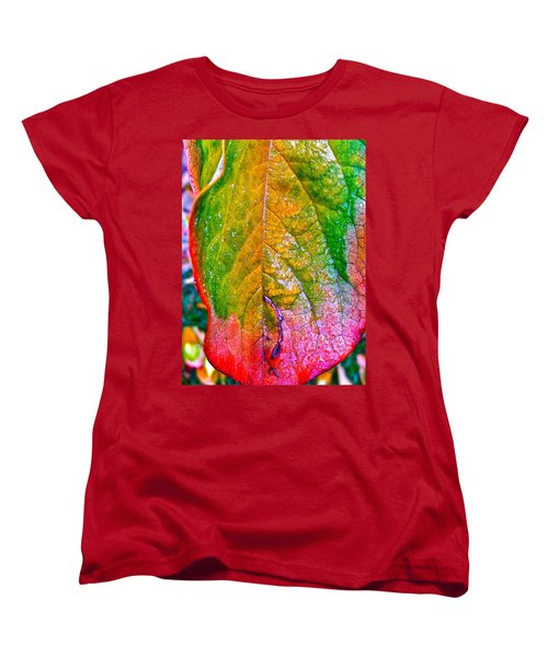 Women's T-Shirt (Standard Cut) featuring the photograph Leaf 2 by Bill Owen