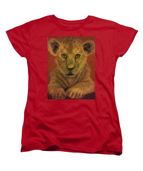 Women's T-Shirt (Standard Cut) featuring the pastel Lion Cub by Christy Saunders Church