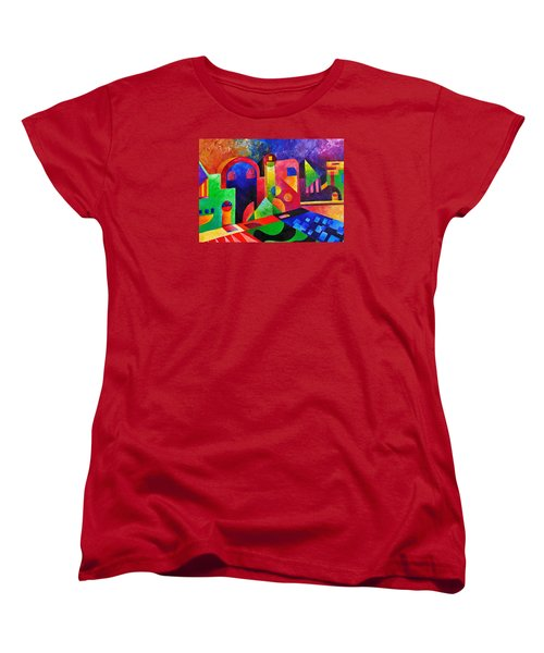 Little Village By Sandralira Women's T-Shirt (Standard Cut) by Sandra Lira