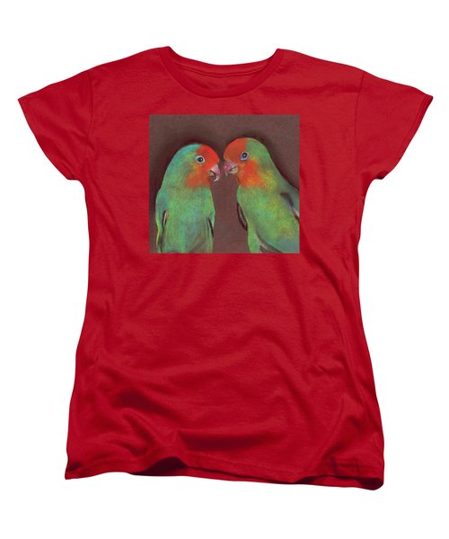 Women's T-Shirt (Standard Cut) featuring the drawing Lovebirds by Wendy McKennon