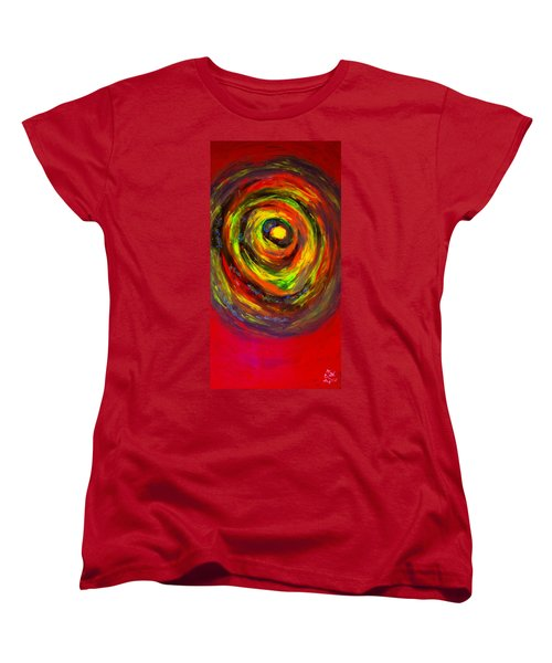 Women's T-Shirt (Standard Cut) featuring the painting Mastemorphosis by Lisa Brandel