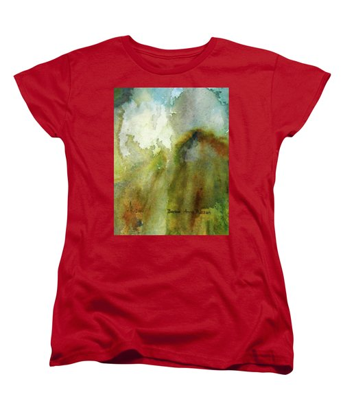 Melting Mountain Women's T-Shirt (Standard Cut) by Anna Ruzsan