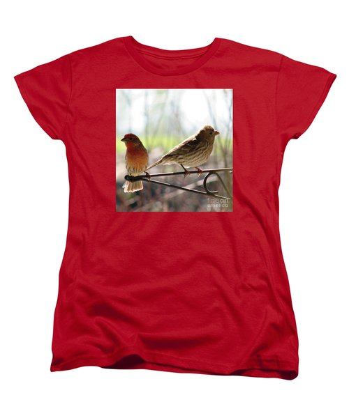 Morning Visitors 2 Women's T-Shirt (Standard Cut) by Rory Sagner
