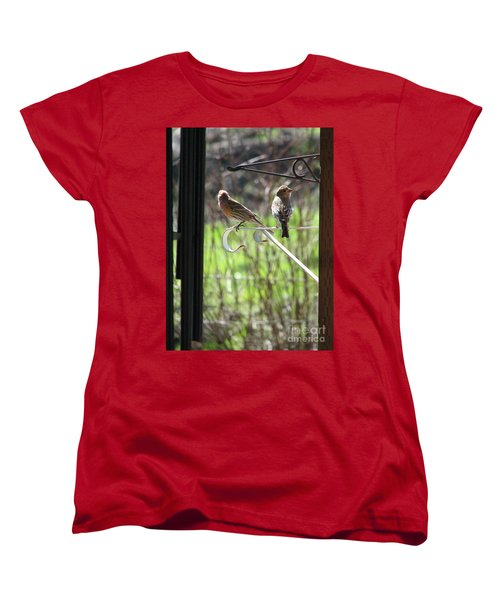 Women's T-Shirt (Standard Cut) featuring the photograph Morning Visitors by Rory Sagner