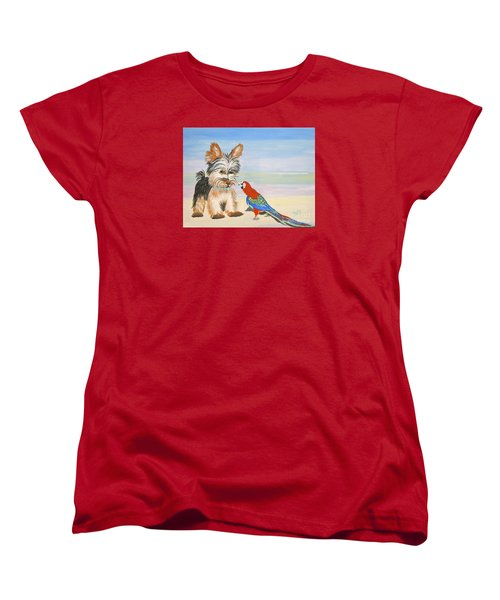 Mouthy Parrot Women's T-Shirt (Standard Cut) by Phyllis Kaltenbach