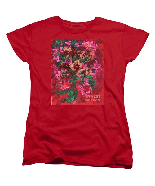 Women's T-Shirt (Standard Cut) featuring the painting My Sister's Garden I by Alys Caviness-Gober