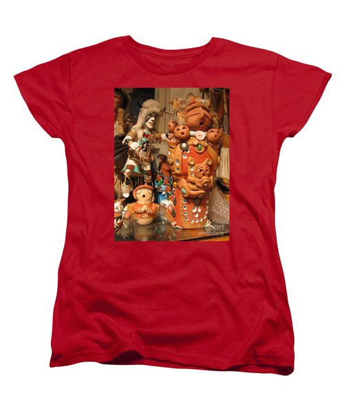 Women's T-Shirt (Standard Cut) featuring the photograph Native  American Folk Art by Dora Sofia Caputo Photographic Art and Design