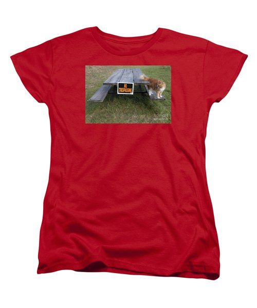 Women's T-Shirt (Standard Cut) featuring the photograph No Trespassing by Jeannette Hunt