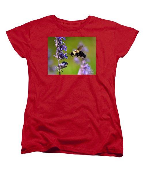 Non Stop Flight To Pollination Women's T-Shirt (Standard Cut) by Sue Stefanowicz