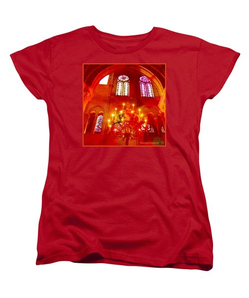 Notre Dame Cathedral - Paris France Women's T-Shirt (Standard Cut) by Anna Porter