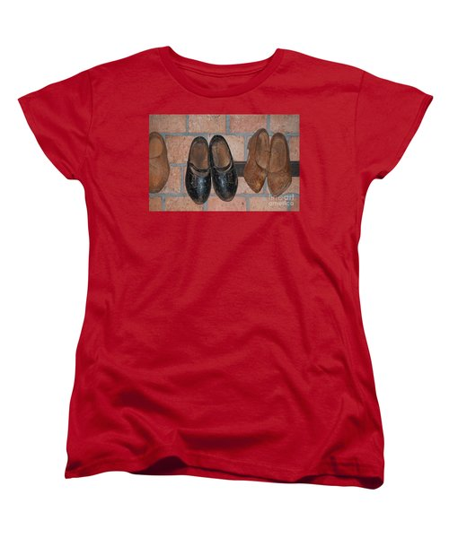 Old Wooden Shoes Women's T-Shirt (Standard Cut) by Carol Ailles