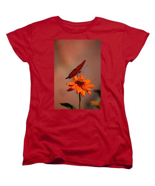 Orange Butterfly Orange Flower Women's T-Shirt (Standard Cut)