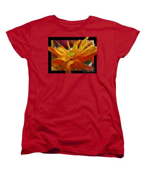 Women's T-Shirt (Standard Cut) featuring the photograph Orange Juice Daisy by Debbie Portwood
