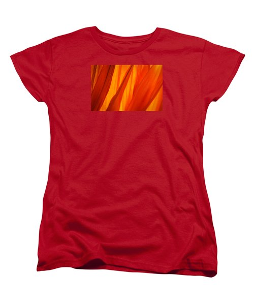 Orange Sunshine Women's T-Shirt (Standard Cut) by Bobby Villapando