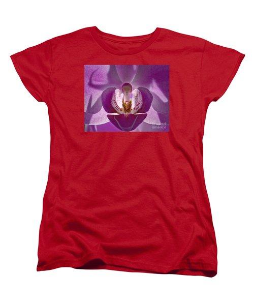 Orchid   Women's T-Shirt (Standard Cut) by Sue Stefanowicz