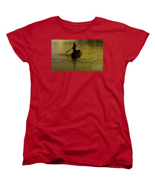 Women's T-Shirt (Standard Cut) featuring the photograph Paddle Boy by Lydia Holly