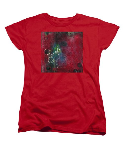 Women's T-Shirt (Standard Cut) featuring the painting Passion 3 by Nicole Nadeau