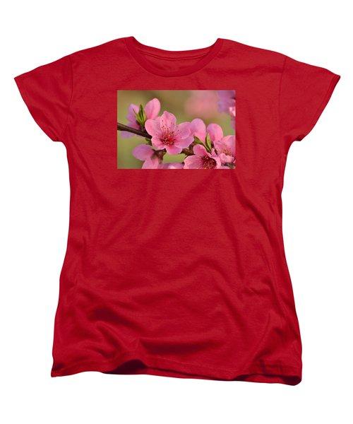 Peach Beautiful Women's T-Shirt (Standard Cut) by JD Grimes