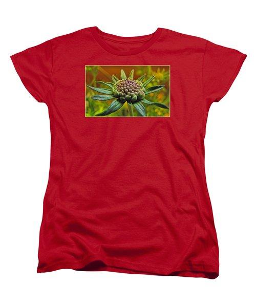 Women's T-Shirt (Standard Cut) featuring the photograph Pinchshin Bud by Debbie Portwood