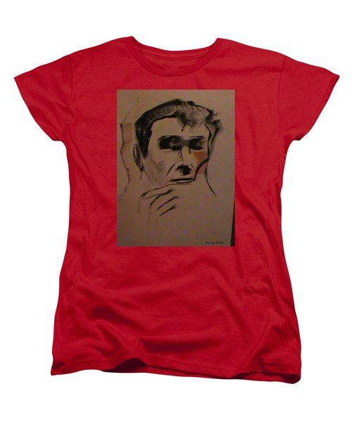 Women's T-Shirt (Standard Cut) featuring the painting Portrait Of Frank Frazetta by George Pedro