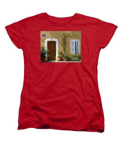 Women's T-Shirt (Standard Cut) featuring the photograph Provence Door 3 by Lainie Wrightson