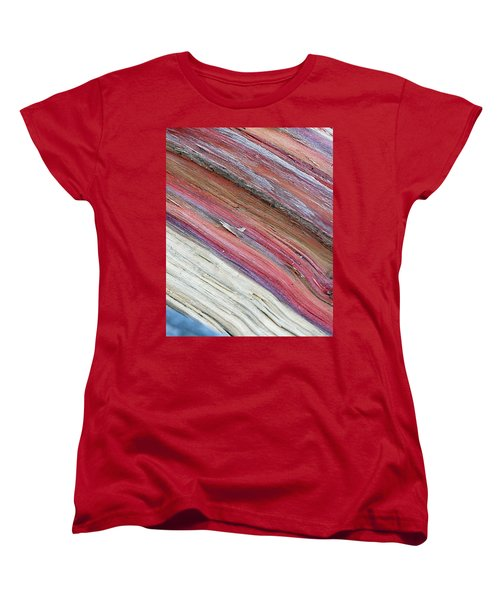 Women's T-Shirt (Standard Cut) featuring the photograph Rainbow Wood by Lisa Phillips