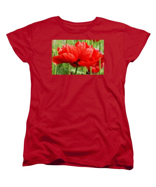 Women's T-Shirt (Standard Cut) featuring the photograph Red And Green by Fotosas Photography