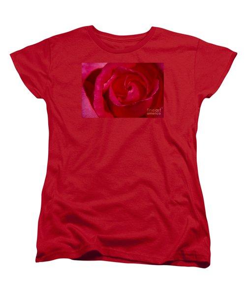 Red Rose Women's T-Shirt (Standard Cut) by Mark Gilman