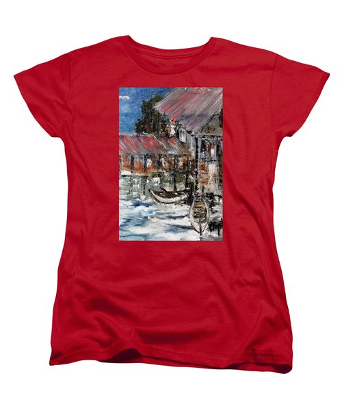 Women's T-Shirt (Standard Cut) featuring the painting Resting by Evelina Popilian