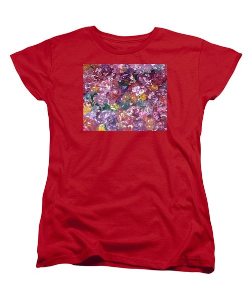 Women's T-Shirt (Standard Cut) featuring the painting Rose Festival by Alys Caviness-Gober