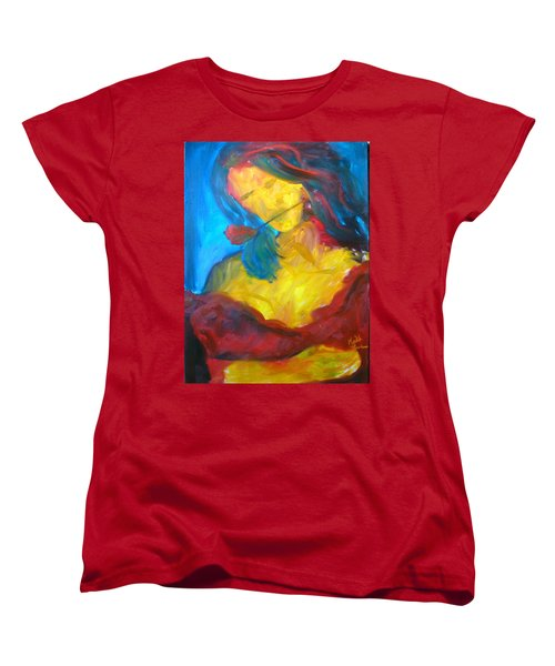 Women's T-Shirt (Standard Cut) featuring the painting Sangria Dreams by Keith Thue