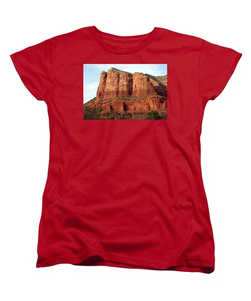 Women's T-Shirt (Standard Cut) featuring the photograph Sedona Red by Debbie Hart