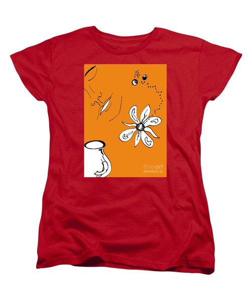 Serenity In Orange Women's T-Shirt (Standard Cut) by Mary Mikawoz