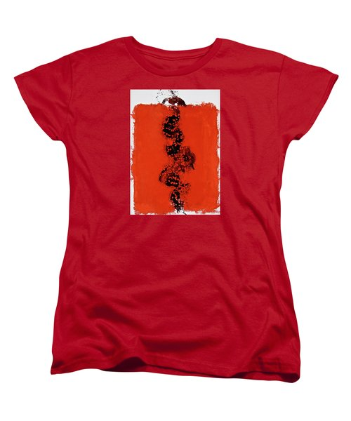 Women's T-Shirt (Standard Cut) featuring the painting Serpentine All In A Roe by Cliff Spohn