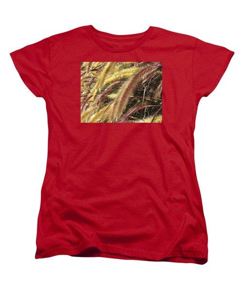 Setaria Italica Red Jewel - Red Bristle Grass Women's T-Shirt (Standard Cut) by Anne Mott