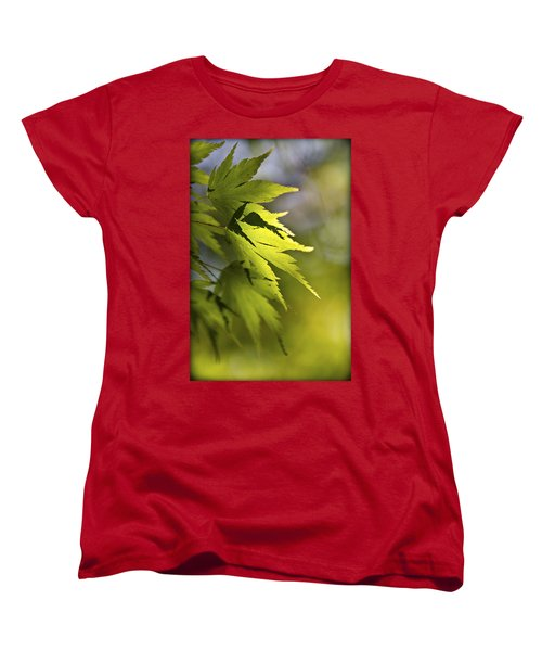Women's T-Shirt (Standard Cut) featuring the photograph Shades Of Green And Gold. by Clare Bambers