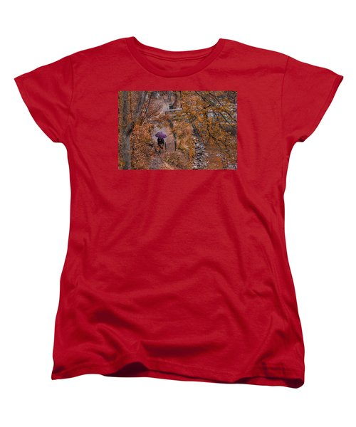 Women's T-Shirt (Standard Cut) featuring the photograph Alone Together by Tom Gort