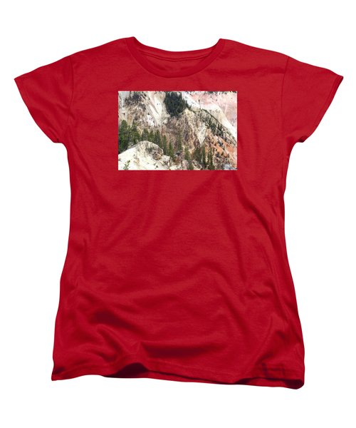 Sit For A Spell At Grand Canyon In Yellowstone Women's T-Shirt (Standard Cut) by Living Color Photography Lorraine Lynch