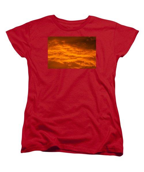 Sky Of Fire Women's T-Shirt (Standard Cut) by Colleen Coccia