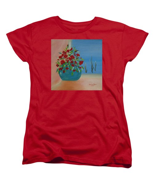 Women's T-Shirt (Standard Cut) featuring the painting Southwestern 1 by Judith Rhue