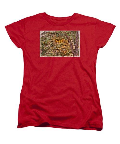 Spanish Moss And Sunset Women's T-Shirt (Standard Cut) by Tom Culver