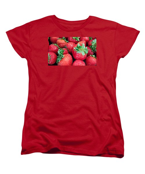 Women's T-Shirt (Standard Cut) featuring the photograph Strawberry Delight by Sherry Hallemeier