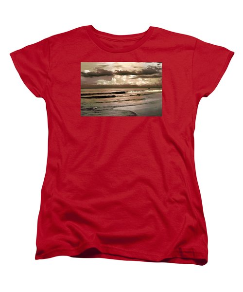 Women's T-Shirt (Standard Cut) featuring the photograph Summer Afternoon At The Beach by Steven Sparks