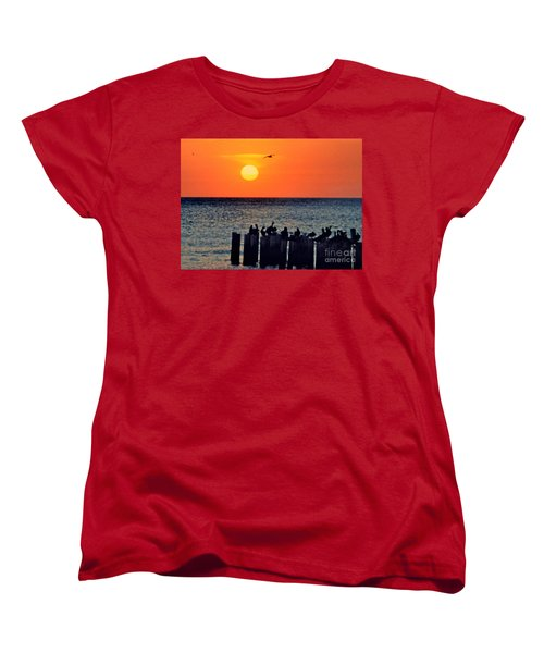Women's T-Shirt (Standard Cut) featuring the photograph Sunset In Florida by Lydia Holly