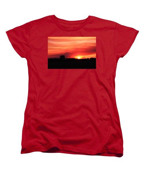 Sunset Women's T-Shirt (Standard Cut) by Johanna Bruwer
