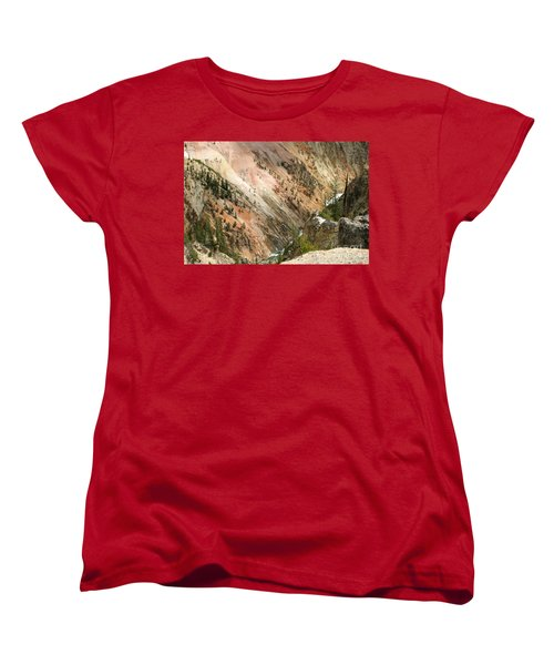 Sunshine On Grand Canyon In Yellowstone Women's T-Shirt (Standard Cut) by Living Color Photography Lorraine Lynch