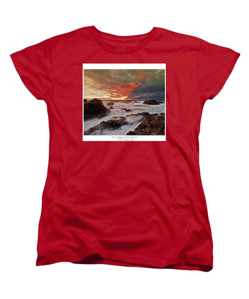 Women's T-Shirt (Standard Cut) featuring the photograph The Edge Of The Storm by Beverly Cash