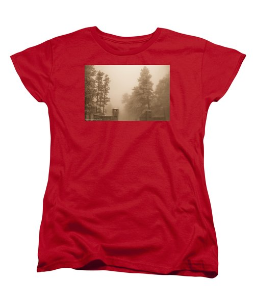 Women's T-Shirt (Standard Cut) featuring the photograph The Fog by Shannon Harrington