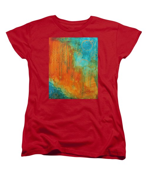 Women's T-Shirt (Standard Cut) featuring the painting The Garden by Nicole Nadeau