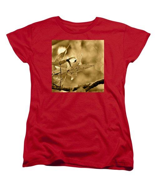 The Gum Leaf Women's T-Shirt (Standard Cut) by JD Grimes